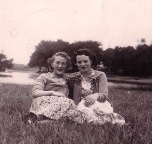 My Nan and her friend in Wanstead Flats